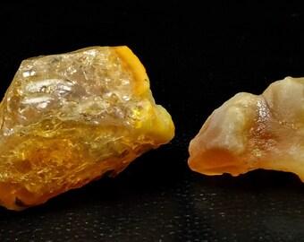 51.35 Unheated & Natural Orange Opal Rough Stone Lot