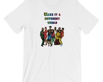 Make It a Different World Short-Sleeve Unisex T-Shirt