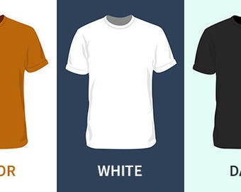 T-shirts for editing in photoshop, Molds.