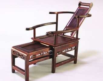 Dollhouse Chinese Rosewood Miniature Furniture Deck Chair