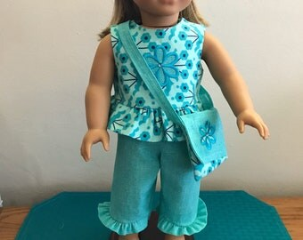American Girl Doll or 18 inch doll Outfit with Purse