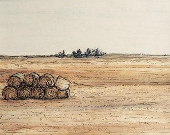 South Dakota Watercolor Print
