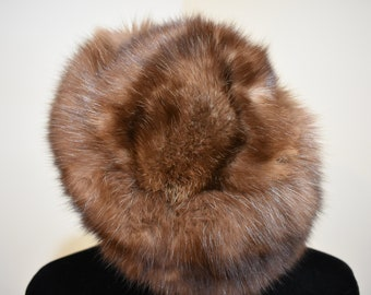 Vintage Sable or Mink Fur Hat by Irene of New York