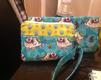 Purse - handmade. Detachable wrist strap.