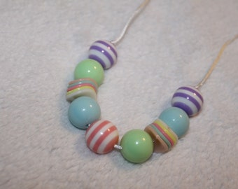 Chunky Bubblegum Necklace - Spring Colors