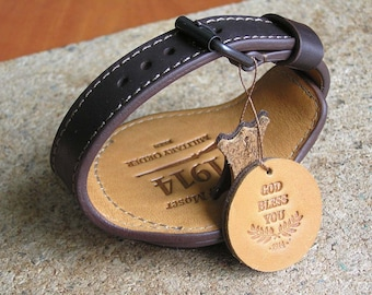 Strap for pocket watch case 48-54mm military pocket watch band genuine leather ww1 wrist band brown