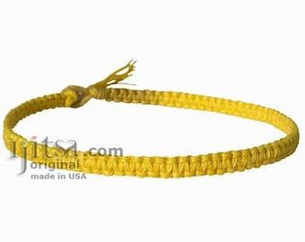 Yellow Flat  Hemp Surfer Style Choker/Necklace
