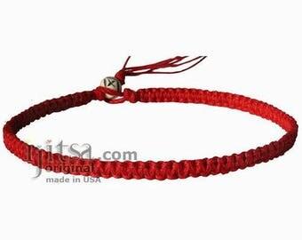 Red Flat Hemp Surfer Choker/Necklace