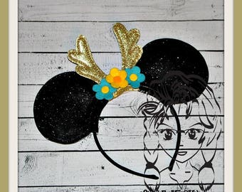 REINDEER ANTLeRS Inspired Character (3 Piece) Mr Miss Mouse Ears Headband ~ In the Hoop ~ Downloadable DiGiTaL Machine Emb Design by Carrie