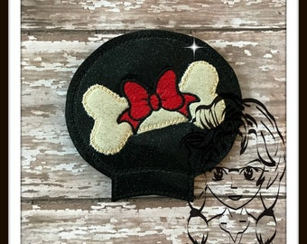 DOG BONE Boy & Girl Ear (Add On~1 Pc) Mr Ms Mouse Ears Headband ~ In the Hoop ~ Downloadable DiGiTaL Machine Embroidery Design by Carrie