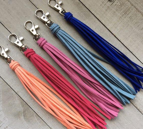 "Bag Tassel Charm  -6"" Classic Tassel Choice of 40 Colors- Tassel Keychain, Backpack Charm, Zipper Charm, Handbag Tassel, Purse Charm (ST115)"