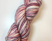 Hand Dyed Sock Yarn, Peach Berry, Fingering/Sock Weight Hand Dyed Yarn, Superwash Wool