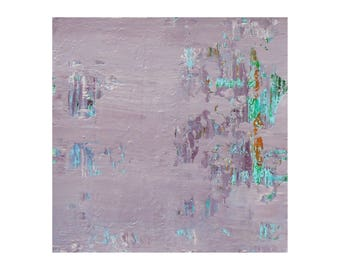 "Small Abstract Painting ""Lilac Whisper"" by Lisa Carney, Textured Acrylic, Modern Abstract, Minimalist Painting, Reductive Art, Color Field"