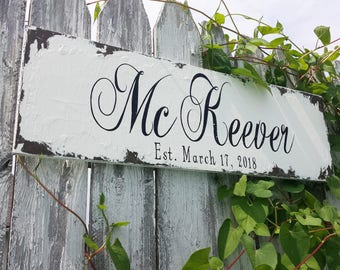 ESTABLISHED SIGN | Last Name Sign | Personalized Sign | Family Name Sign | Wedding Sign | Mr and Mrs Name Sign | Housewarming Gift | Wood