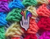 PRE ORDER Rockin the rainbow pin