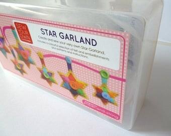 Star Garland - Large Kit - Felt sewing kit