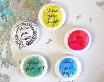 shine your light button with pin back - single blessing button