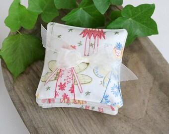 Set of Three Petite Lavender Sachets, Whimsical Fairy Angels, Little Girl Sachets