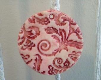 Red Brocade Ornament