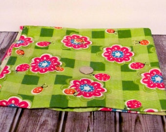 Ladybugs and Floral Print Fabric