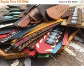 40% OFF- Leather Destash -Over 5 Lbs-Belt Supplies-Recycled-Cuff Making Supplies