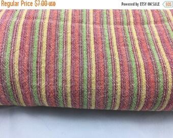 SALE- Striped Seersucker Fabric-Cotton Blend-Candy Stripes