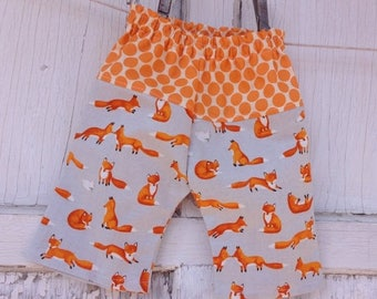 CRAZY SALE- Whimsies Baby Loungers-Eco Friendly Pants-Foxy