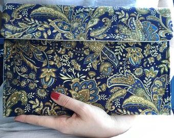 Paisley bag /  iPad case / felt clutch