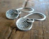 NEW Bloom Earrings - Handmade. Oxidized fine and sterling silver dangle earrings