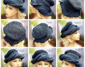 Crochet Beanie Pattern Video, Crochet Pattern Beanie, How to Crochet a Hat, Cappelli Hats, Uncinetto, Samantha Hat