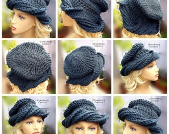 How to Crochet Video Tutorial Crochet Pattern, Crochet Tutorial PDF Pattern, Crochet Tutorial Hat Crochet Pattern Beanie Hat, Samantha Hat