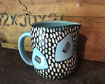 Mod Spot Porcelain Creamer blue black white