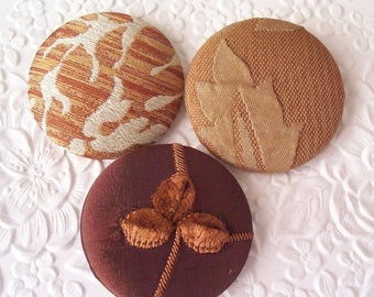 CLEARANCE - Brown buttons, fabric covered buttons , chenille buttons, size 75 buttons