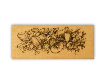 Bells mounted rubber stamp, Christmas, jingle bells, vintage style Crazy Mountain Stamps #7