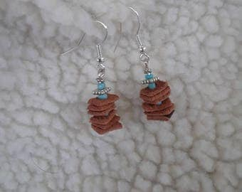 Genuine Leather Stack Earrings