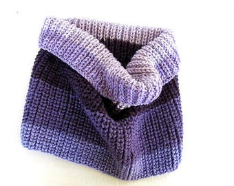 Lilac to Purple Gradient Cowl FREE US Shipping