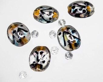 Bead Kit 7- glass beads- lampwork beads- handmade beads- silver foil beads- designer beads- jewelry supplies- beading supplies-crystal beads