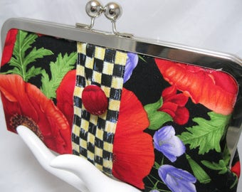 Coupon Organizer, Coupon Holder, Coupon Divider, Cash Envelope System, Coupon Purse, Floral Check