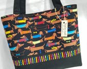 Dachshund Dog Doxie Parade purse tote handbag