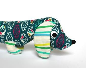 Stuffed Wiener Dog, Plush Dachshund, Weiner Dog Stuffie, Unique Kids Gift LEON