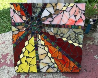Starshine Original Abstract Stained Glass Mosaic