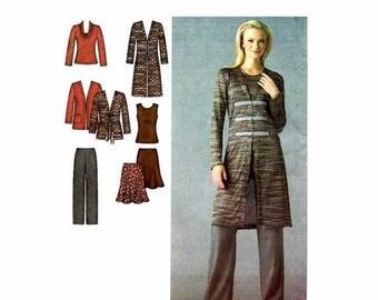 SALE Womens Pants Skirt Knit Cardigan Tops Simplicity 3634 Sewing Pattern Full Figure Size 20 - 22 - 24 - 26 - 28 UNcut