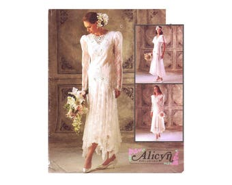 Alicyn Bridal Gowns and Bridesmaids Dresses McCalls 6948 Sewing Pattern Size 14 Bust 36 OR Size 18 Bust 40 UNCUT