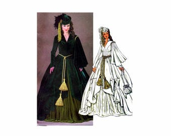 Scarlett O'Hara Dress Gone With The Wind Civil War Costume Butterick 4051 Sewing Pattern Size 12 - 14 - 16 OR Size 18 - 20 - 22 UNCUT