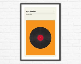 High Fidelity Minimalist Movie Poster, Stephen Frears