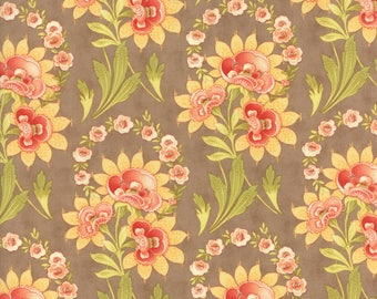 Hazel and Plum - Harvest Bouquet in Harvest Tan: sku 20290-13 cotton quilting fabric by Fig Tree and Co. for Moda Fabrics