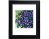 Purple Flowers Art Print ...