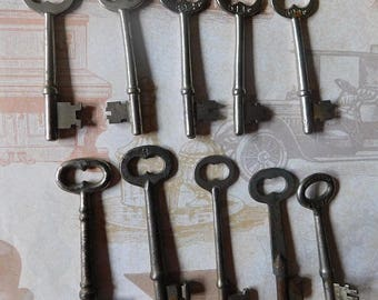 Ten Vintage Skeleton Keys