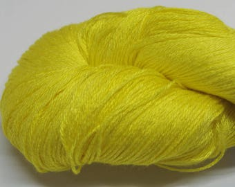 Hand painted Mousou Bamboo yarn, 4 oz, Sunshine