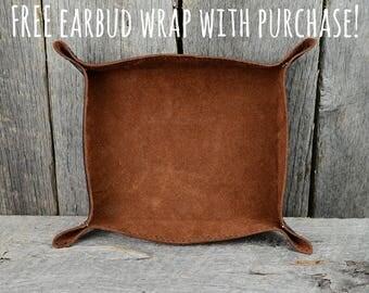Arizona Leather Snap Valet Tray Catchall